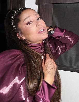 Dangerous woman: Ariana Grande got the wrinkle treatment when a fan plugged her photo into the app