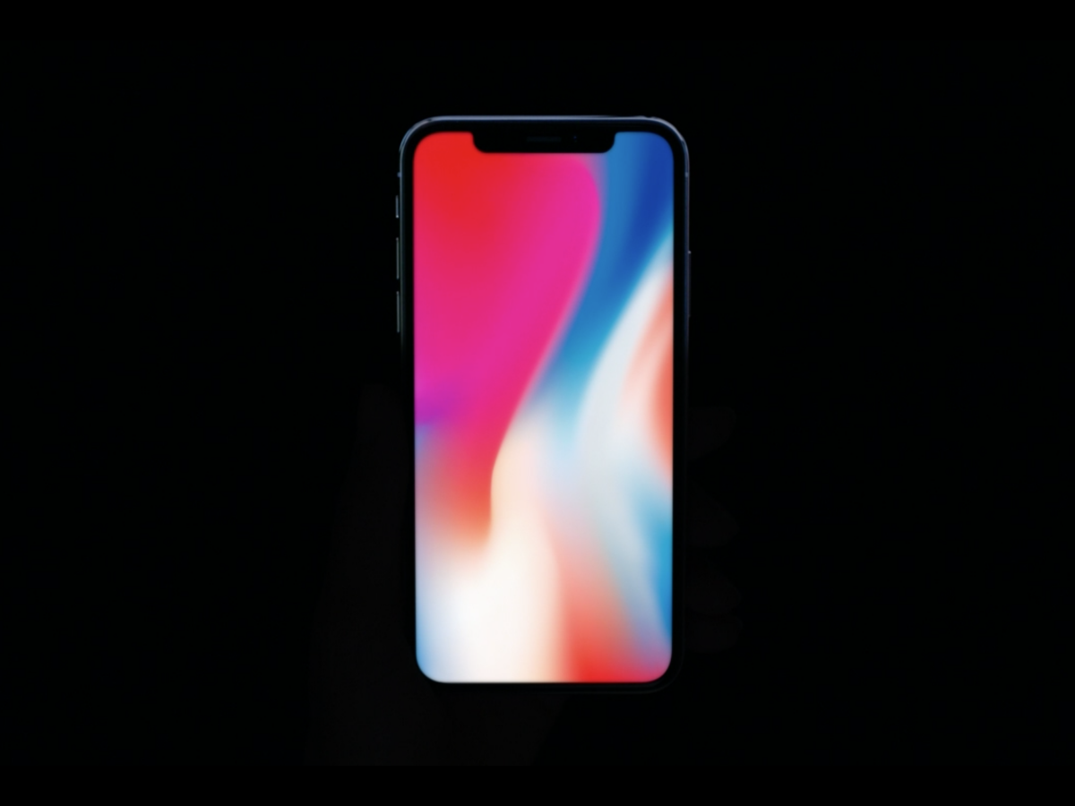 """7. The iPhone 8 doesn't have the """"notch"""" at the top."""